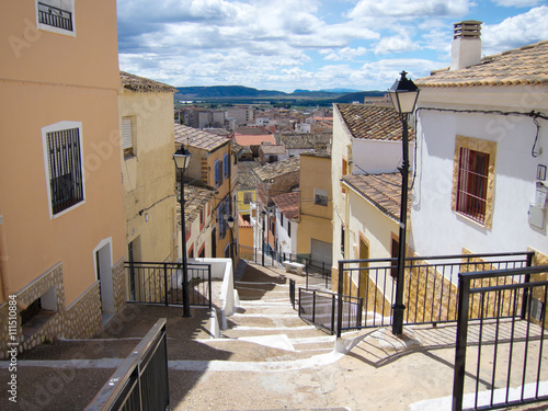 Panorámica y escaleras en Hellin (Albacete)