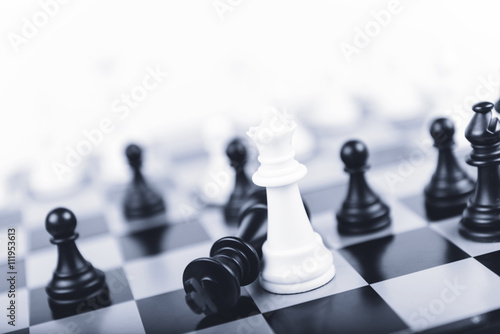 Fototapeta Mat na šachovnici, šachy