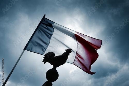 Wallpaper Mural drapeau français france tricolor coq symbole emblême républiq