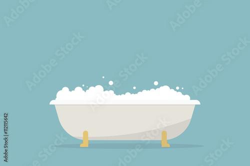 Leinwand Poster simple cartoon bubble bath