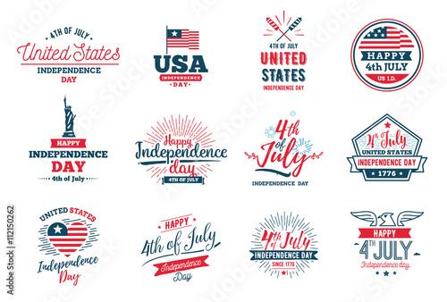 Obraz na plátne July fourth, United Stated independence day greeting.