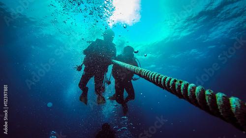 Canvas Print Scuba Diving