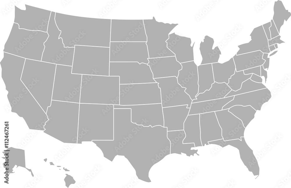 Mapa USA <span>plik: #112467261 | autor: janaluchenko</span>