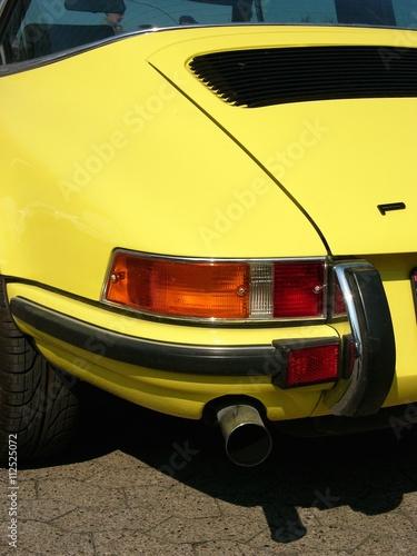 Canvas Print Fließheck einer deutschen Sportwagen Ikone der Sechzigerjahre und Siebzigerjahre