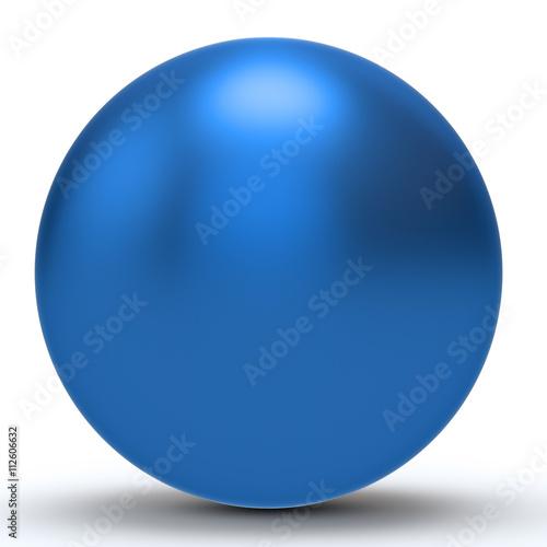 Canvas Print 3d blue sphere