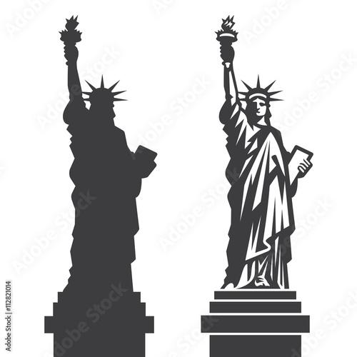 Wallpaper Mural New York Statue of Liberty Vector silhouette
