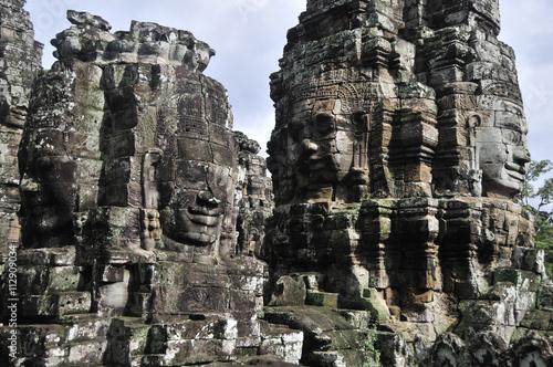 Wallpaper Mural Bayon Temple, Angkor Cambodia