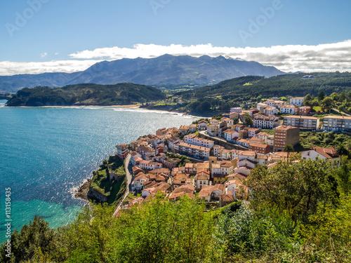 vistas panoramicas a lastres, asturias