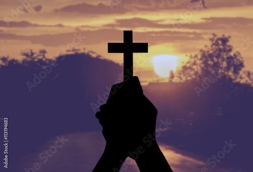 Fotografia cross holy and prayed