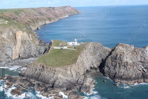 Canvas Print Lundy Island Lighthouse