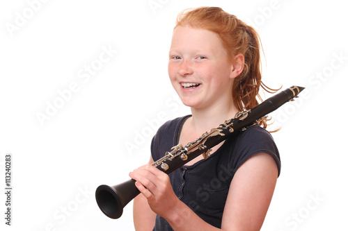 Leinwand Poster Clarinet player