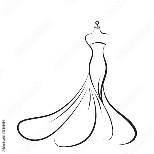 Canvas-taulu dummy dress hand drawing illustration vector