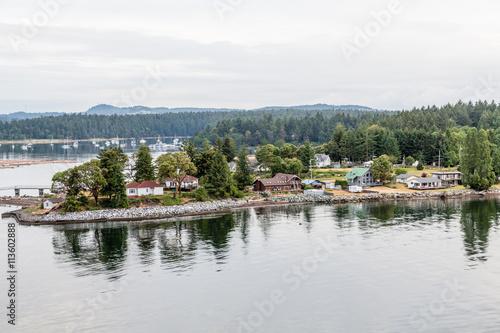 Fotografiet British Columbia Coast and Harbor at Dawn
