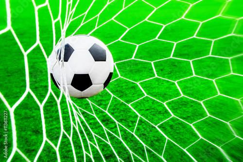 Fényképezés Fußball im Tornetz
