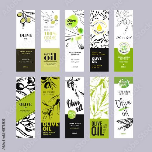 Carta da parati Olive oil labels collection