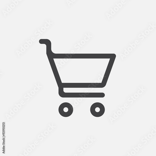 Fotomural shopping cart icon