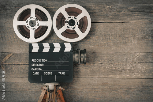 Old movie camera,