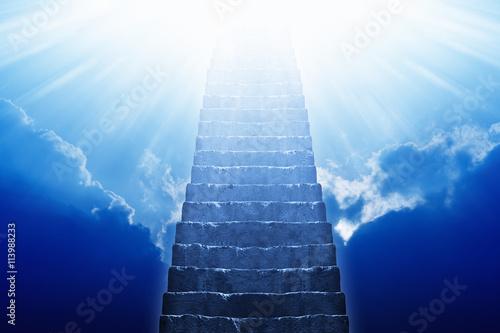Fotografie, Tablou Stairway leading up to heaven