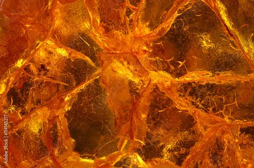 Valokuvatapetti amber close up in detail - macro texture
