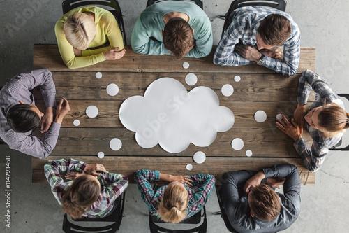 Cuadros en Lienzo Teamwork meeting concept
