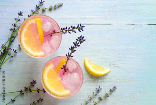 Lavender lemonade Fototapet