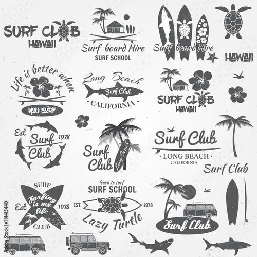 Canvas Print Set of retro vintage badges and labels