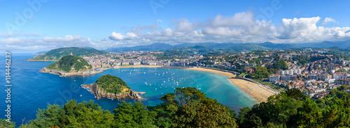 Foto Panoramic view of San Sebastian in Spain