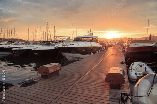 Fototapeta Boats in the old port of Saint Tropez, French Riviera