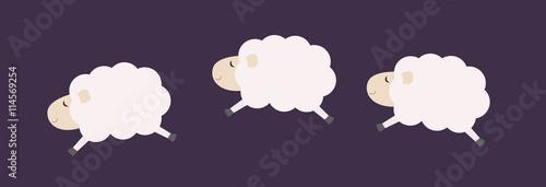 Carta da parati Three jumping sheep