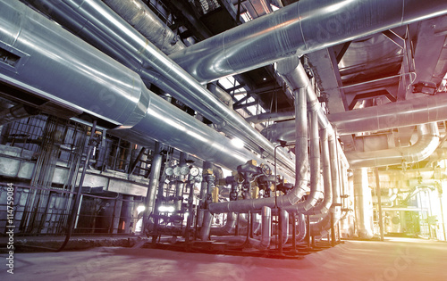 Stampa su Tela Industrial zone, Steel pipelines and equipment
