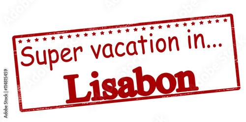 Canvas Print Super vacation in Lisabon