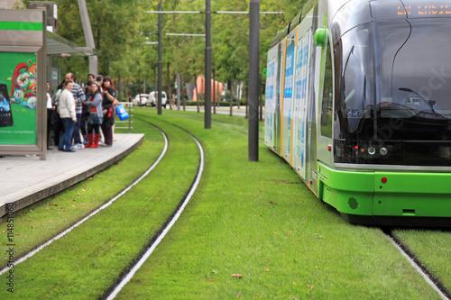 tranvía railes vitoria país vasco estación parada 1489-f16