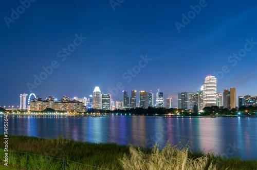 Canvas Print Singapore city at night