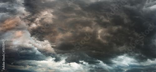 Fotografie, Obraz Panorama of a stormy sky