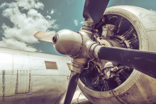 Canvas Print Old aircraft close up