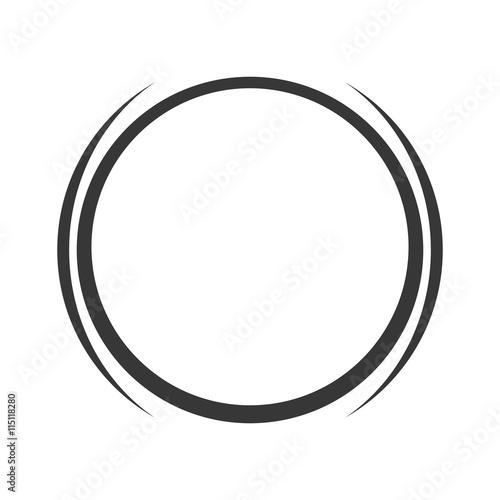 Slika na platnu grey circle icon