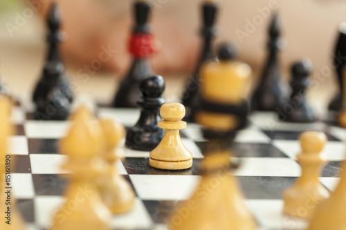 Obraz na plátně Šachová hra