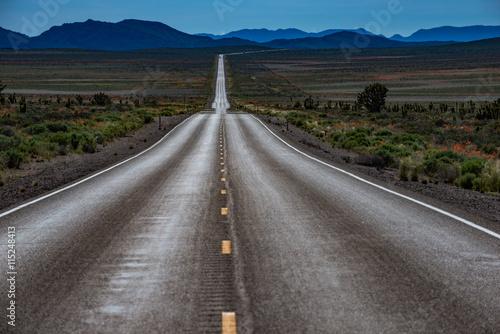 Empty Road Nevada Hwy 95 Fototapeta