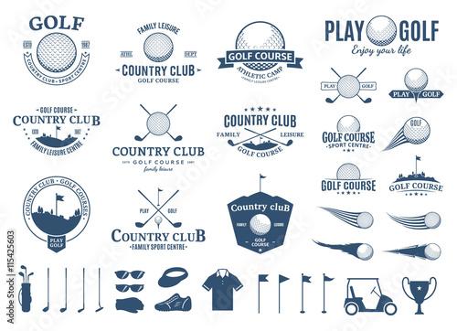 Fotografie, Tablou Golf club logo, labels, icons and design element