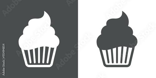 Fotografia Icono plano cupcake