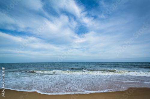 Obraz na plátne Waves in the Atlantic Ocean at Cape Henlopen State Park, in Reho