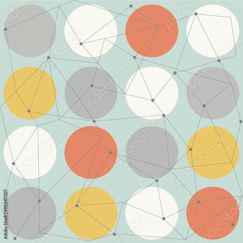 Fototapeta scandinavian geometric modern seamless pattern
