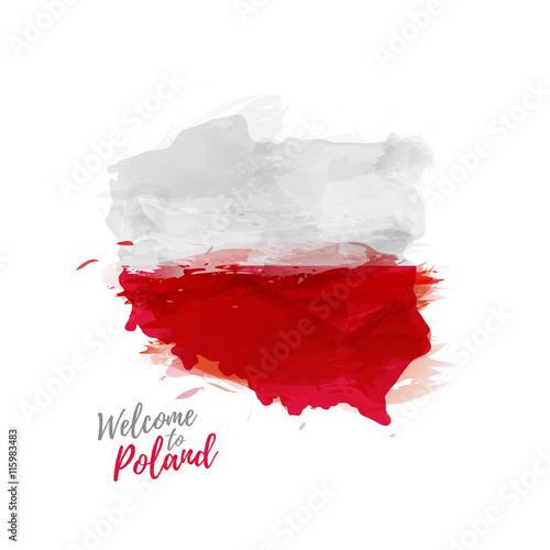 Wallpaper Mural Symbol, poster, print, banner Poland