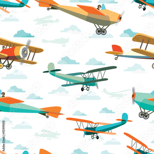 Seamless pattern from Retro Airplanes