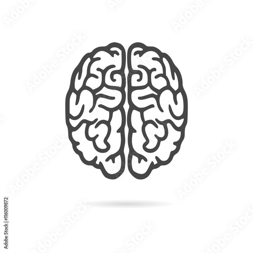 Brain icon, Brain Logo silhouette Fototapete