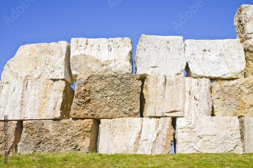 Photo Large overlaid stone blocks background