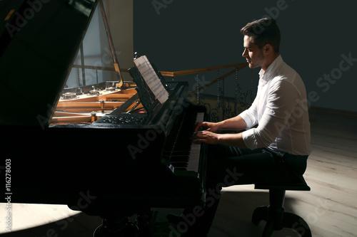 Obraz na płótnie Musician playing piano