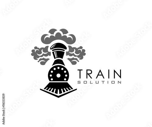 Canvas Print Train logo