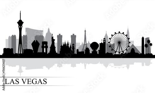 Photo Las Vegas city skyline silhouette background