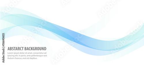 Fotografie, Obraz abstract blue line wave background